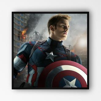 """Постер в рамке """"Captain America / Капитан Америка"""" #14"""