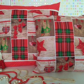 новогодние подушки Набор 3 предмета