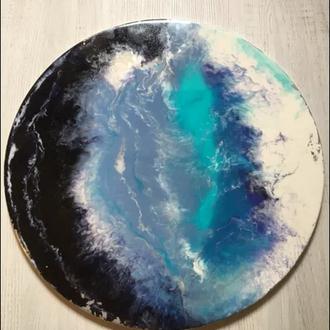 """Картина в технике Resin Art  эпоксидной смолой """"Подсознание"""""""