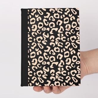 Деревянный блокнот с гравировкой, записная книжка, скетчбук, леопардовый принт