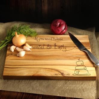 Персонализированная разделочная доска ручной работы из натурального ореха