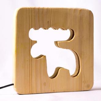 Продам led wood светильник из дерева детский ночник eco