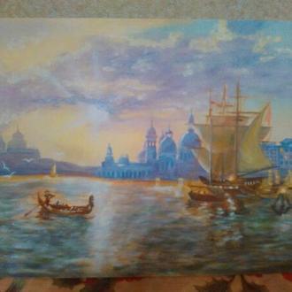 """Репродукція картини """"Захід сонця у Венеції"""""""