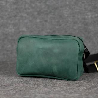 Бананка Модель №58 Винтажная кожа цвет Зеленый