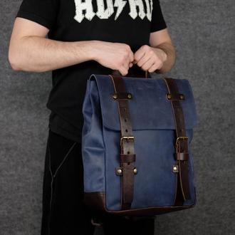 Рюкзак Hankle H1 Винтажная кожа цвет Синий
