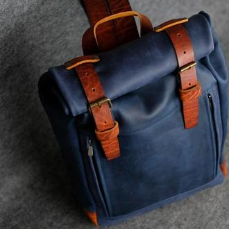 Рюкзак Hankle H7 Винтажная кожа цвет Синий