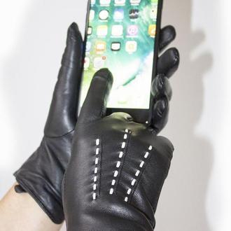 Перчатки кожаные сенсорные