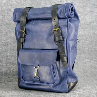 Рюкзак Hankle H42 Винтажная кожа цвет Синий