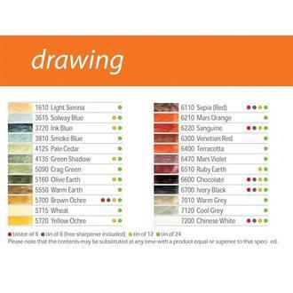 Карандаш воско-масл. Derwent Drawing 7006**-343**_серо-голубой (3615)