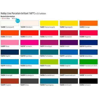 Краска по фарфору и керамике KREUL Hobby Line на водн основе (обжиг 160*) 20мл KR-162**_антрацит