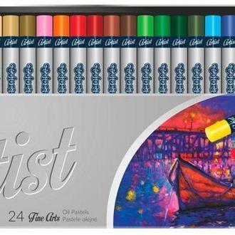 Пастель масляная Colorino Artist 24цв. круглая 65719