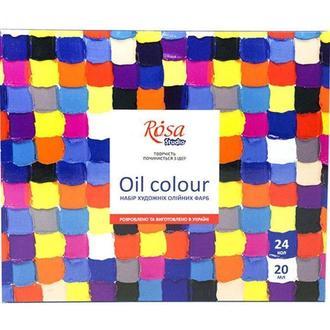 Краски масляные Rosa Studio набор 24цв. по 20мл 131009