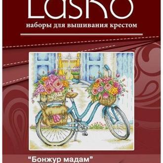Набор для вышивания LasKo P045 Бонжур мадам