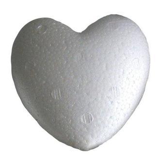 Заготовка для декорирования пенопласт Сердце 80мм Дрим