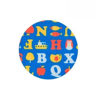 Фетр поделочный (полиэстер) 180г/м2 21,5*28см Rosa Talent PF009 принт, Буквы на синем