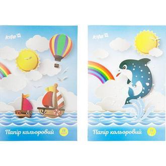 Бумага цветная детская А4 KITE K17-1250