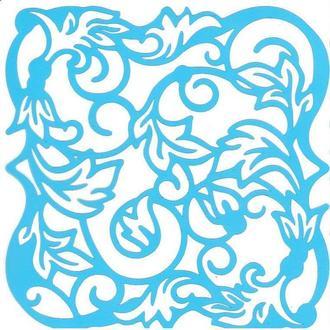 Трафарет многоразовый Фабрика Декору 14*14см FDTR 047 Орнамент флора