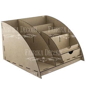 Заготовка для декорирования Фабрика Декору (ДВП 3мм) Настольный органайзер FDPO-014