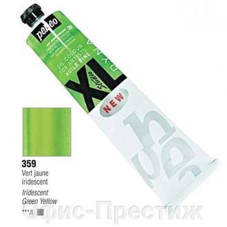 Краска масляная тонкотёртая иридисц. Pebeo XL 200мл P-2003**_желто-зеленый (P-200359)