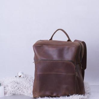 Шкіряний чоловічий рюкзак