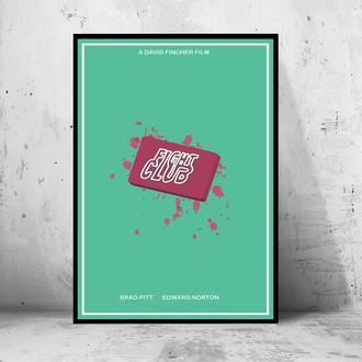 Постер на ПВХ 3 мм. в рамке Fight Club (Бойцовский Клуб) (4)