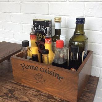 Деревянный ящик для соусов