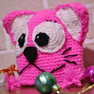 Вязаная Детская Шапочка отличный подарок к праздникам! Сделана с любовью