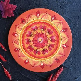 Декоративна тарілка ′Сонячна мандала′