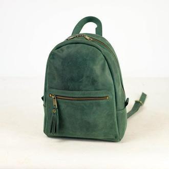 Рюкзак Лимбо, размер средний Винтажная кожа цвет зеленый