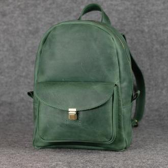 Рюкзак Модель №68 Винтажная кожа цвет зеленый
