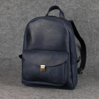 Рюкзак Модель №68 Винтажная кожа цвет синий