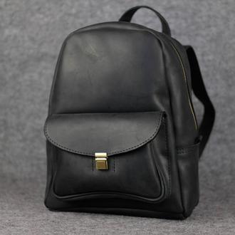 Рюкзак Модель №68 Винтажная кожа цвет черный