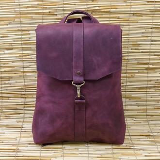 Рюкзак Модель №72 Винтажная кожа цвет бордо