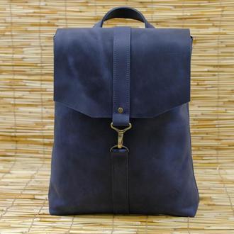 Рюкзак Модель №72 Винтажная кожа цвет синий