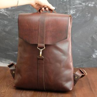 Рюкзак Модель №72 кожа Краст цвет вишня