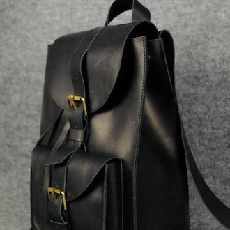 Модель Средний рюкзак, Винтажная кожа цвет черный
