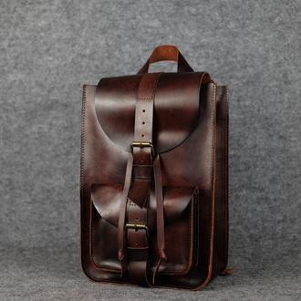 Модель Средний рюкзак, кожа Краст цвет вишня
