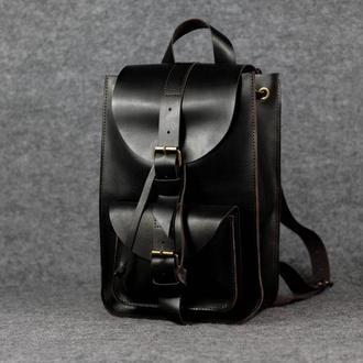 Модель Средний рюкзак, кожа Краст цвет кофе