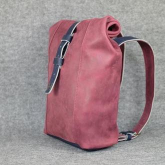 Рюкзак Модель №74 Винтажная кожа цвет бордо