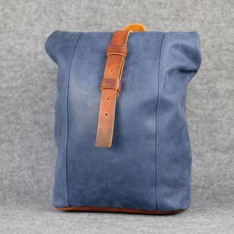 Рюкзак Модель №74 Винтажная кожа цвет синий