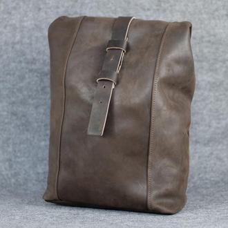 Рюкзак Модель №74 Винтажная кожа цвет шоколад