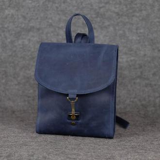 Рюкзак Венеция размер мини, Винтажная кожа цвет синий