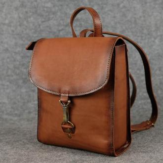 Рюкзак Венеция размер мини, кожа Краст цвет коричневый
