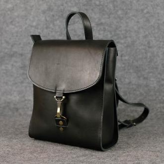 Рюкзак Венеция размер мини, кожа Краст цвет черный
