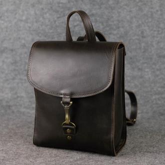 Рюкзак Венеция размер мини, кожа Краст цвет кофе