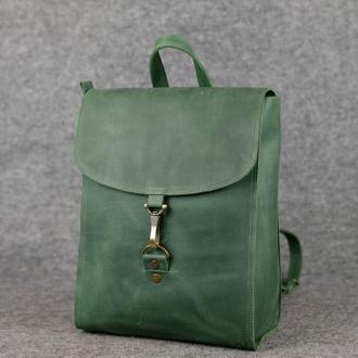 Рюкзак Венеция средний размер, Винтажная кожа цвет зеленый