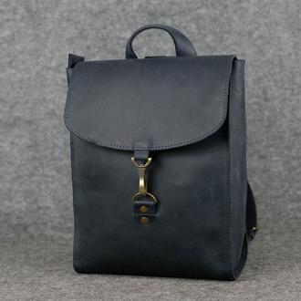 Рюкзак Венеция средний размер, Винтажная кожа цвет синий