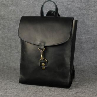 Рюкзак Венеция средний размер, кожа Краст цвет черный