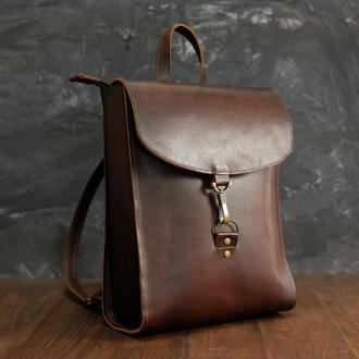 Рюкзак Венеция средний размер, кожа Краст цвет вишня
