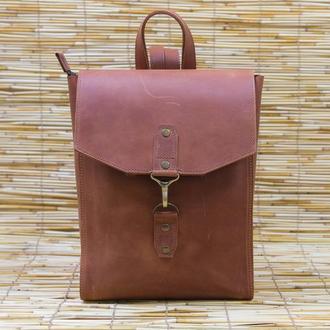 Рюкзак женский Модель №78 Винтажная кожа цвет коньяк